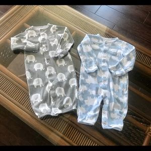 Bundle of two Carter's Snap Sleepers to Gown 3 mo